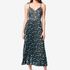 Betsey Johnson Floral Pleated Midi Dress, 2/Small